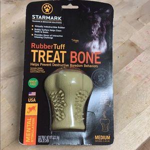 Starmark Rubber Tuff Treat Bone Med Never Opened